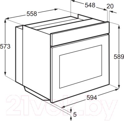 Электрический духовой шкаф Electrolux EOB53400CN