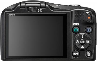 Компактный фотоаппарат Nikon Coolpix L620 (Black) - вид сзади