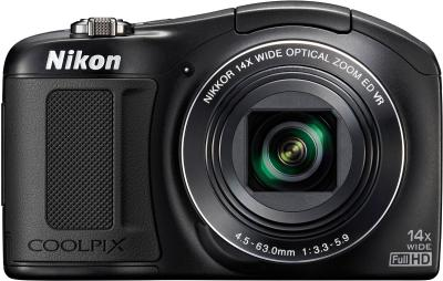 Компактный фотоаппарат Nikon Coolpix L620 (Black) - вид спереди