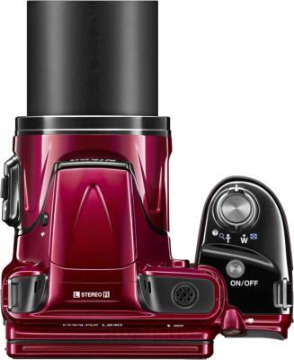 Компактный фотоаппарат Nikon Coolpix L830 (Red) - вид сверху