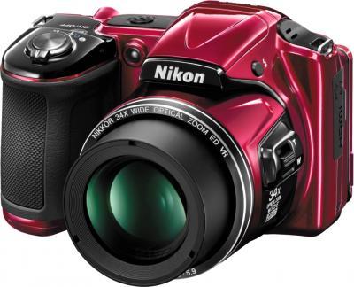 Компактный фотоаппарат Nikon Coolpix L830 (Red) - общий вид