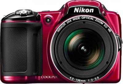 Компактный фотоаппарат Nikon Coolpix L830 (Red) - вид спереди
