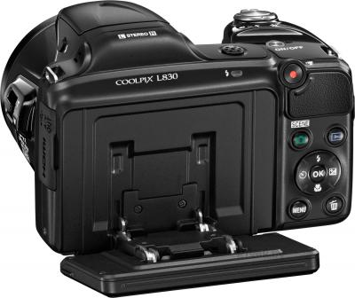 Компактный фотоаппарат Nikon Coolpix L830 (Black) - вид сзади
