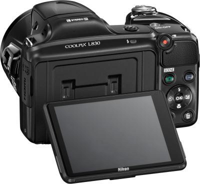 Компактный фотоаппарат Nikon Coolpix L830 (Black) - поворотный экран
