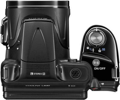 Компактный фотоаппарат Nikon Coolpix L830 (Black) - вид сверху