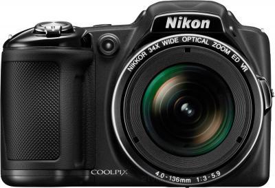 Компактный фотоаппарат Nikon Coolpix L830 (Black) - вид спереди