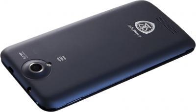 Смартфон Prestigio MultiPhone 5501 (Blue) - вид лежа