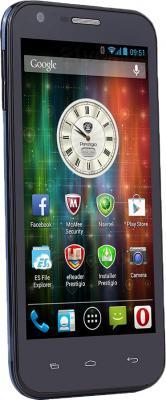 Смартфон Prestigio MultiPhone 5501 (Blue) - полубоком