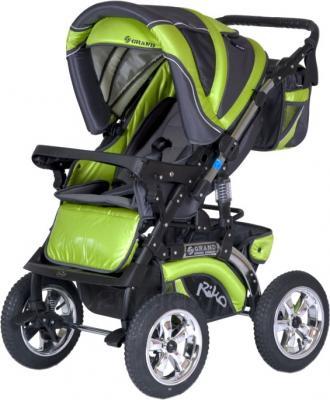 Детская универсальная коляска Riko Grand (Silver) - прогулочная