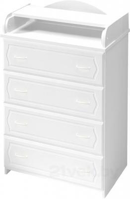 Комод Алмаз-Мебель КП-2.6 (Белый) - общий вид