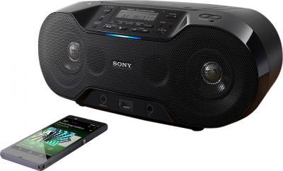 Магнитола Sony ZS-RS70BT - прослушивание с помощью NFC