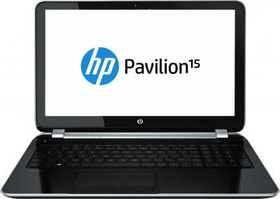 Ноутбук HP Pavilion 15-n070sr (F4B05EA) - фронтальный вид