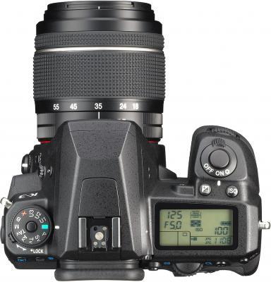 Зеркальный фотоаппарат Pentax K-3 Kit DA 18-55mm WR (черный) - вид сверху