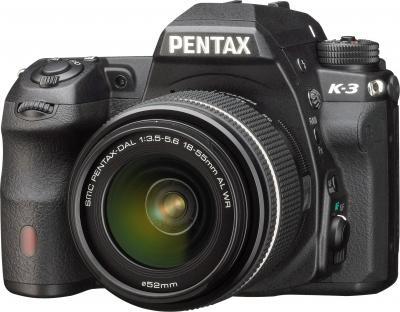 Зеркальный фотоаппарат Pentax K-3 Kit DA 18-55mm WR (черный) - общий вид