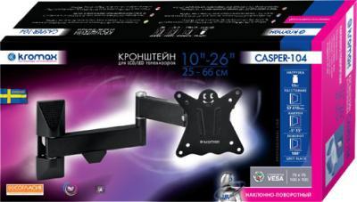 Кронштейн для телевизора Kromax Casper-104 (черный) - упаковка