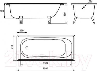 Ванна стальная Estap Classic 150x71 (White)