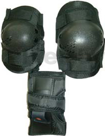 Комплект защиты Speed GF-6408 (M, черный) - общий вид