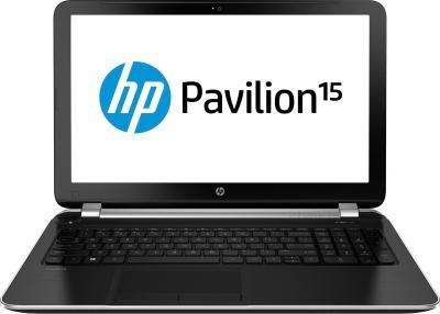 Ноутбук HP Pavilion 15-n002sr (E7F96EA) - фронтальный вид