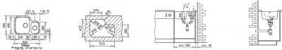 Мойка кухонная Teka BE 1 1/2 B 625 L HD - схема монтажа