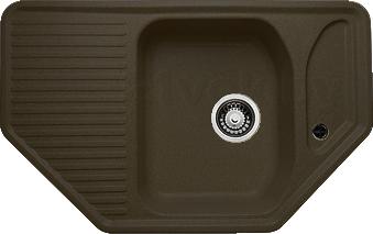 Мойка кухонная Granicom G002-02 (шоколад) - реальный цвет модели может немного отличаться от цвета, представленного на фото