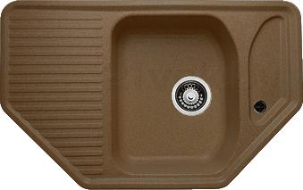 Мойка кухонная Granicom G002-03 (бренди) - реальный цвет модели может немного отличаться от цвета, представленного на фото