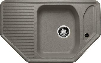 Мойка кухонная Granicom G002-04 (серый) - реальный цвет модели может немного отличаться от цвета, представленного на фото