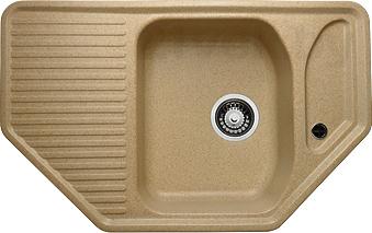 Мойка кухонная Granicom G002-07 (сахара) - реальный цвет модели может немного отличаться от цвета, представленного на фото