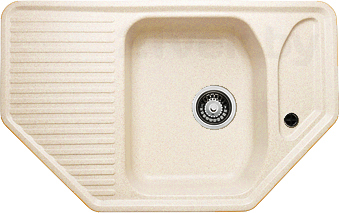 Мойка кухонная Granicom G002-09 (персик) - реальный цвет модели может немного отличаться от цвета, представленного на фото