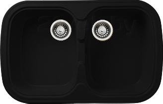 Мойка кухонная Granicom G004-01 (антрацит) - реальный цвет модели может немного отличаться от цвета, представленного на фото