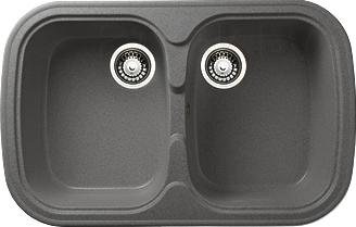 Мойка кухонная Granicom G004-04 (серый) - реальный цвет модели может немного отличаться от цвета, представленного на фото