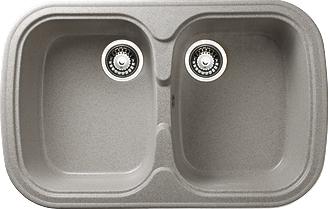 Мойка кухонная Granicom G004-05 (серебристый) - реальный цвет модели может немного отличаться от цвета, представленного на фото