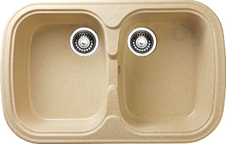 Мойка кухонная Granicom G004-07 (сахара) - реальный цвет модели может немного отличаться от цвета, представленного на фото