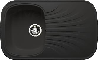 Мойка кухонная Granicom G005-01 (антрацит) - реальный цвет модели может немного отличаться от цвета, представленного на фото