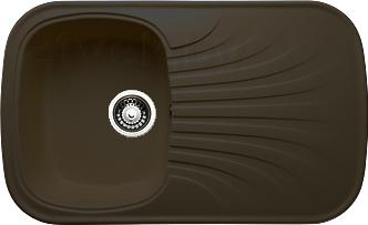 Мойка кухонная Granicom G005-02 (шоколад) - реальный цвет модели может немного отличаться от цвета, представленного на фото