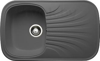 Мойка кухонная Granicom G005-04 (серый) - реальный цвет модели может немного отличаться от цвета, представленного на фото