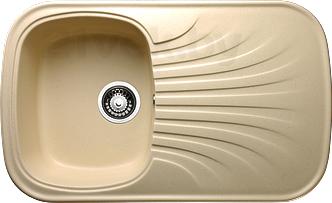 Мойка кухонная Granicom G005-07 (сахара) - реальный цвет модели может немного отличаться от цвета, представленного на фото