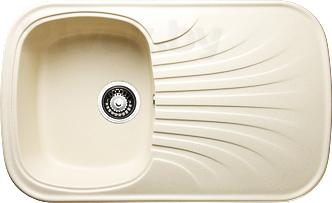 Мойка кухонная Granicom G005-09 (персик) - реальный цвет модели может немного отличаться от цвета, представленного на фото