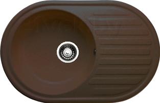 Мойка кухонная Granicom G006-02 (шоколад) - реальный цвет модели может немного отличаться от цвета, представленного на фото