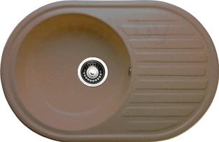 Мойка кухонная Granicom G006-03 (бренди) - реальный цвет модели может немного отличаться от цвета, представленного на фото