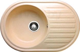 Мойка кухонная Granicom G006-06 (шампань) - реальный цвет модели может немного отличаться от цвета, представленного на фото