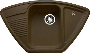 Мойка кухонная Granicom G008-02 (шоколад) - реальный цвет модели может немного отличаться от цвета, представленного на фото