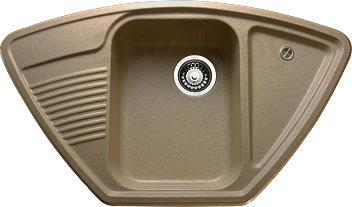 Мойка кухонная Granicom G008-03 (бренди) - реальный цвет модели может немного отличаться от цвета, представленного на фото