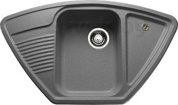 Мойка кухонная Granicom G008-04 (серый) - реальный цвет модели может немного отличаться от цвета, представленного на фото