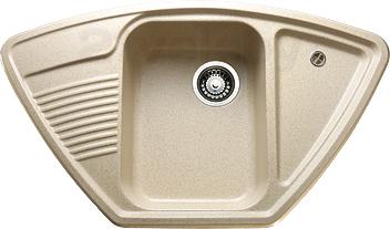 Мойка кухонная Granicom G008-07 (сахара) - реальный цвет модели может немного отличаться от цвета, представленного на фото