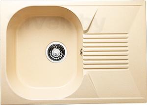 Мойка кухонная Granicom G010-09 (персик) - реальный цвет модели может немного отличаться от цвета, представленного на фото