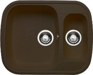 Мойка кухонная Granicom G011-02 (шоколад) - реальный цвет модели может немного отличаться от цвета, представленного на фото