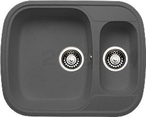 Мойка кухонная Granicom G011-04 (серый) - реальный цвет модели может немного отличаться от цвета, представленного на фото