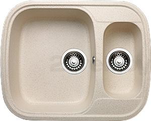 Мойка кухонная Granicom G011-09 (персик) - реальный цвет модели может немного отличаться от цвета, представленного на фото