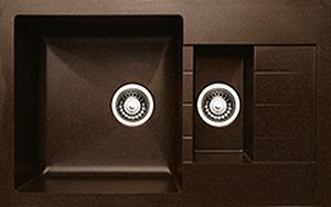 Мойка кухонная Granicom G012-02 (шоколад) - реальный цвет модели может немного отличаться от цвета, представленного на фото