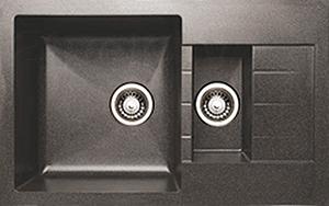 Мойка кухонная Granicom G012-04 (серый) - реальный цвет модели может немного отличаться от цвета, представленного на фото